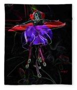 Midnight Bloom Fleece Blanket