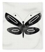 Midnight Butterfly 1- Art By Linda Woods Fleece Blanket