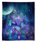 Midnight Butterfly Fleece Blanket