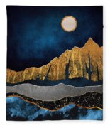 Midnight Desert Moon Fleece Blanket