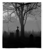 Midnight Graveyard Fog Fleece Blanket