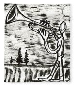 Midnight Horn Fleece Blanket