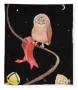 Midnight Owl Fleece Blanket