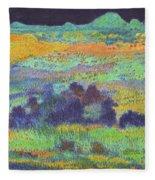 Midnight Prairie Dream Fleece Blanket