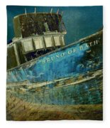Midnight Shipwreck Fleece Blanket