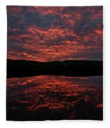 Midnight Sun In Norbotten Fleece Blanket