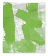 Midori- Abstract Art By Linda Woods Fleece Blanket