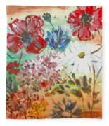 Midsummer Delight Fleece Blanket