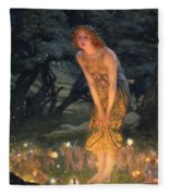 Midsummer Eve Fleece Blanket by Edward Robert Hughes