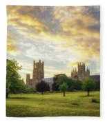 Midsummer Evening In Ely Fleece Blanket