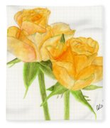 Midsummer Roses Fleece Blanket