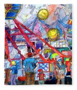 Midway Amusement Rides Fleece Blanket