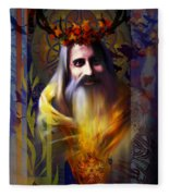 Midwinter Solstice Fire Lord Fleece Blanket