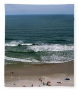 Mighty Ocean Aerial View Fleece Blanket