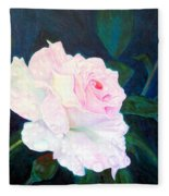 Midnight Rose Fleece Blanket
