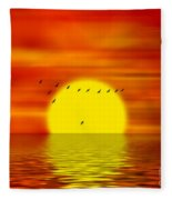 Migrating Birds Fleece Blanket