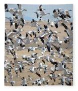 Migrating Snow Geese Fleece Blanket