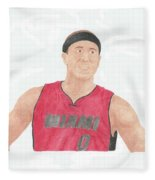 Mike Bibby Fleece Blanket