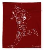 Mike Trout Home Run Trot Fleece Blanket