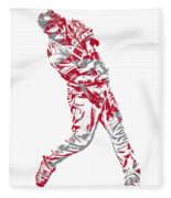 Mike Trout Los Angeles Angels Pixel Art 20 Fleece Blanket