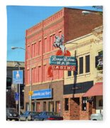 Miles City, Montana - Downtown Casino 2 Fleece Blanket