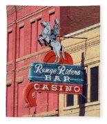 Miles City, Montana - Downtown Casino Fleece Blanket