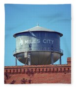 Miles City, Montana - Water Tower Fleece Blanket