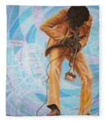 Miles Davis  In A Yellow Suit Fleece Blanket