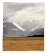 Milford Sound Mountains On South Island New Zealand Fleece Blanket