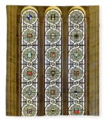 Military Insignia On Stained Glass - Meuse Argonne - East Fleece Blanket