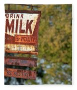 Milk Sign Fleece Blanket