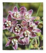 Milk Weed Vine Flowers Fleece Blanket