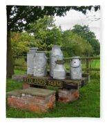 Milkcans Wiltshire England Fleece Blanket