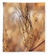 Milkweed In The Breeze Fleece Blanket