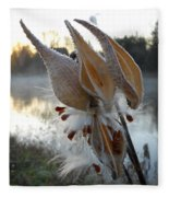 Milkweed Pods Seeds Fleece Blanket