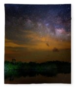 Milky Way Fire Fleece Blanket