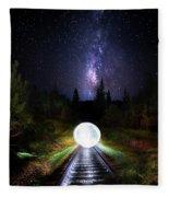 Milky Way Orb Fleece Blanket