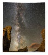Milky Way Over Crest House Fleece Blanket