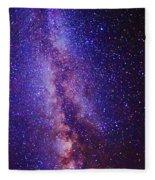 Milky Way Splendor Vertical Take Fleece Blanket