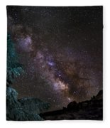 Milkyway At The Mountains Fleece Blanket
