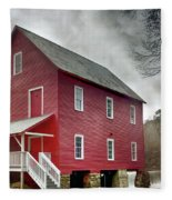 Mill At Whitewater Cree Fleece Blanket