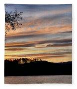 Mill Creek Lake Sun Set Fleece Blanket