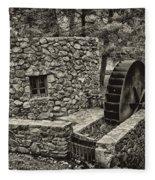 Mill Creek Water Wheel Fleece Blanket