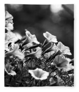 Mill Hill Inn Petunias Black And White Fleece Blanket