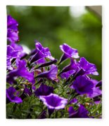 Mill Hill Inn Petunias Fleece Blanket