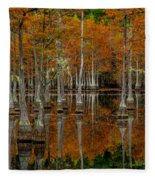 Mill Pond Reflections Fleece Blanket