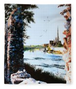 Mill Race Look-out Fleece Blanket