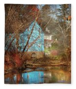 Mill - Walnford, Nj - Walnford Mill Fleece Blanket