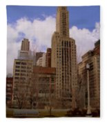 Millenium Park And Bench 1 Fleece Blanket