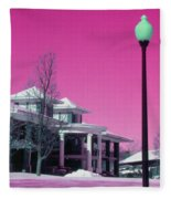 Miller Park Pavilion False Color Ir Number 1 Fleece Blanket